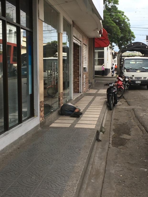 Homeless boy in Garson, Colombia